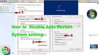 How to  Disable Auto Restart System setting