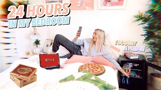 24 HOURS in my BEDROOM!! Isolation IDEAS when you're bored af!!