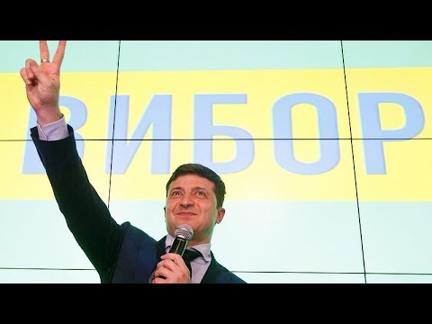 Comedian Zelenskiy leading Ukraine presidential election