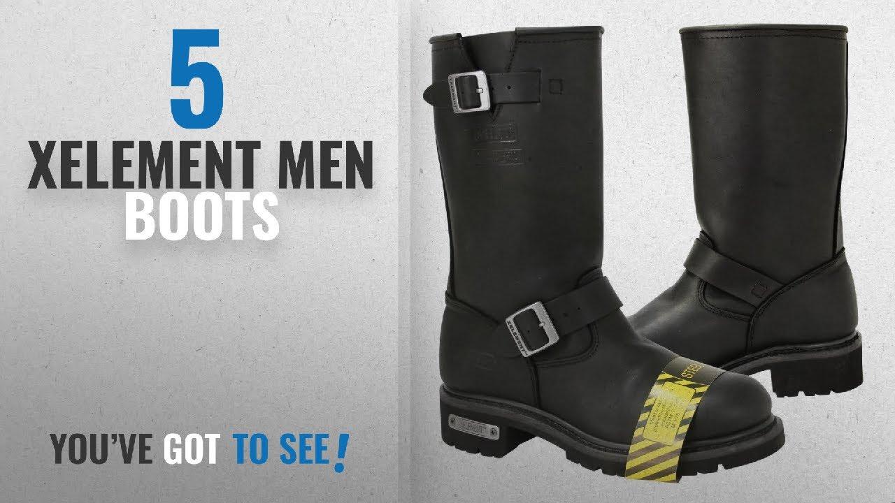 3b63b30fa8e Top 10 Xelement Men Boots [ Winter 2018 ]: Xelement 1445 Mens Black Steel  Toe Motorcycle Engineer