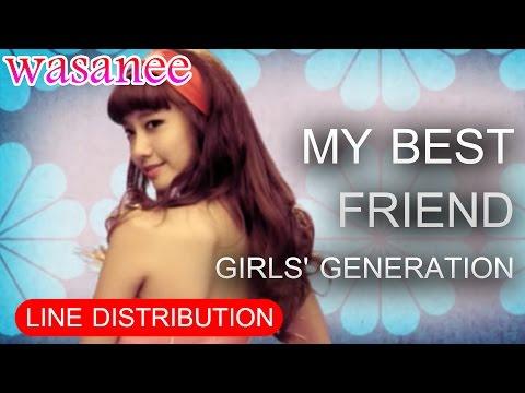 Girls' Generation/Snsd - My Best Friend - Line Distribution (Color Coded MV)