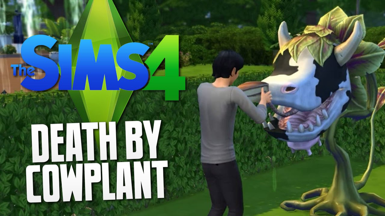 The Sims 4 - DEATH BY COW PLANT - The Sims 4 Funny Moments #24