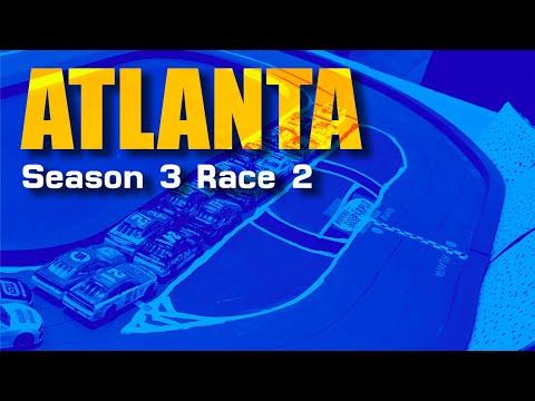 NASCAR Stop Motion: TMCS Season 3 Race 2 @ Atlanta Motor Speedway