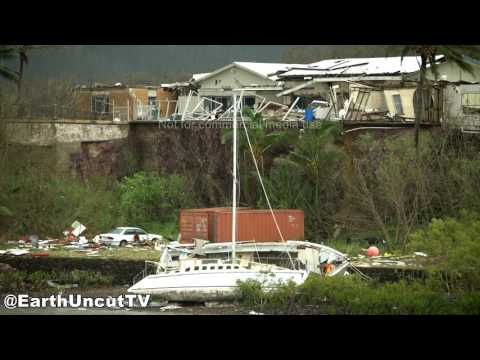 Worst Of Cyclone Debbie In 4K - Airlie Beach, Australia 28th March 2017