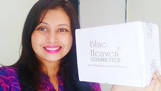 New Blue Heaven makeup products unboxing and haul video|kaurtips