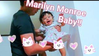 【赤ちゃん☆はな】パパと扇風機マリリンモンロー♡