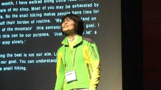 With feeling the aesthetics of slowness: SangEun Lee at TEDxDaejeon