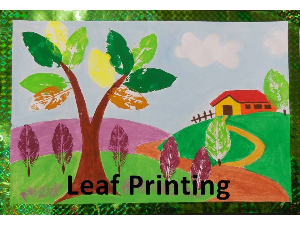 Diy How To Do Leaf Printing Youtube