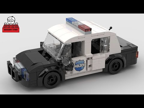 LEGO MOC #9 Police Car (USA Style) Stop Motion Speed Build