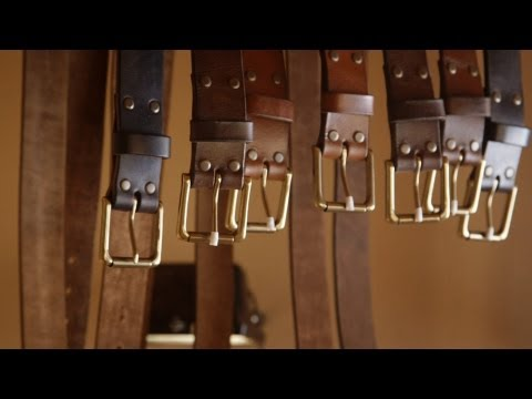 Leather craft. Making a leather belt by Northmen
