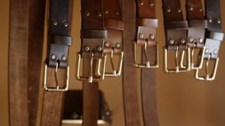 Leather craft. Making a leather belt by John Neeman Tools