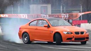 Orange bmw m3 e92 amazing drifting!!