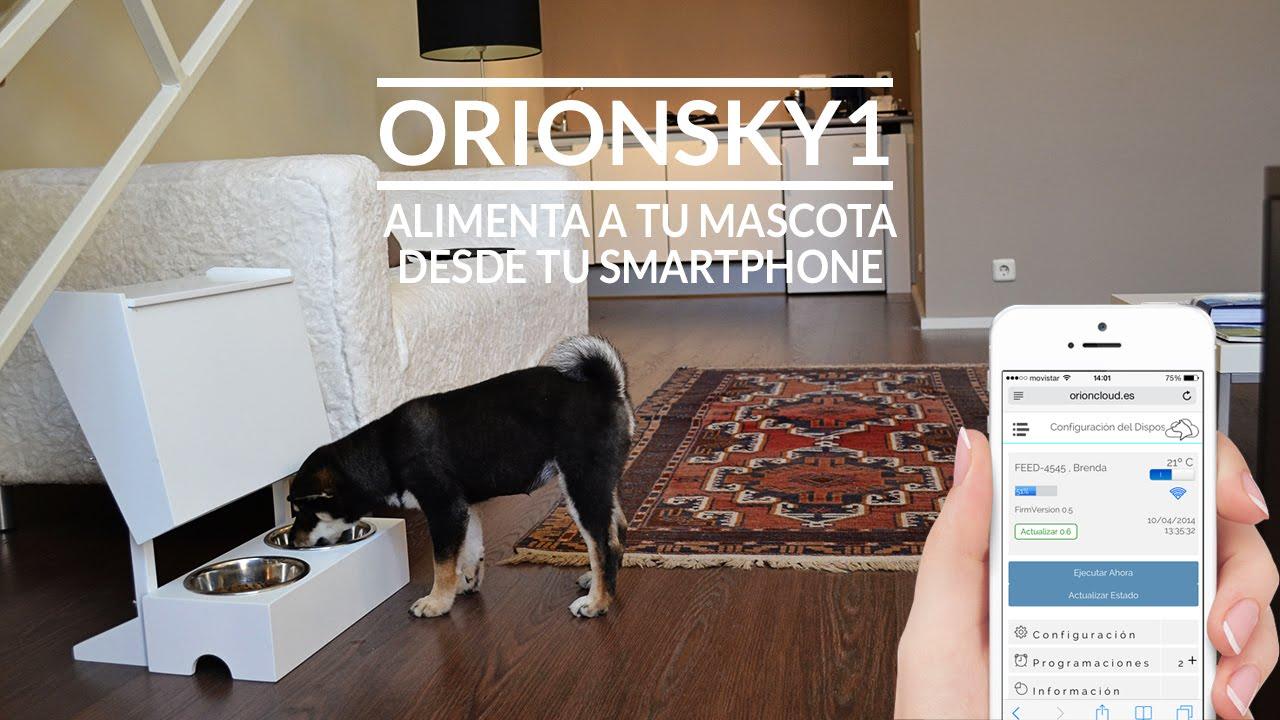Orionsky1 comedero inteligente para perros y gatos youtube for Comederos para perros