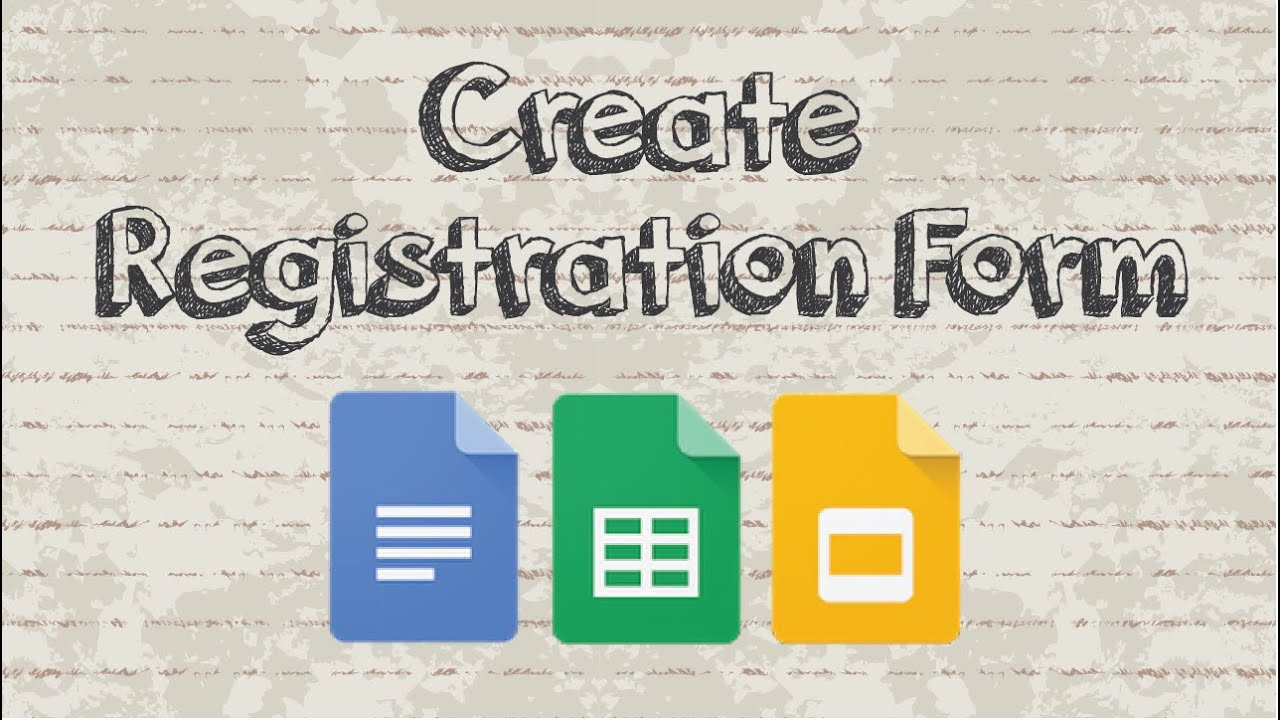 How To Create A Registration Form With Google Docs Youtube