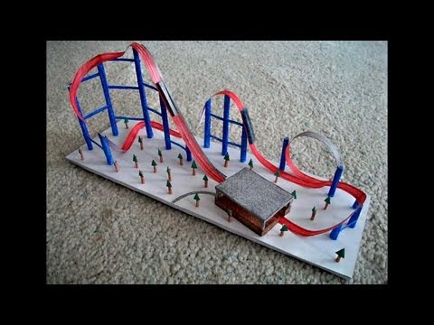 Paper roller coaster for Free printable paper roller coaster templates