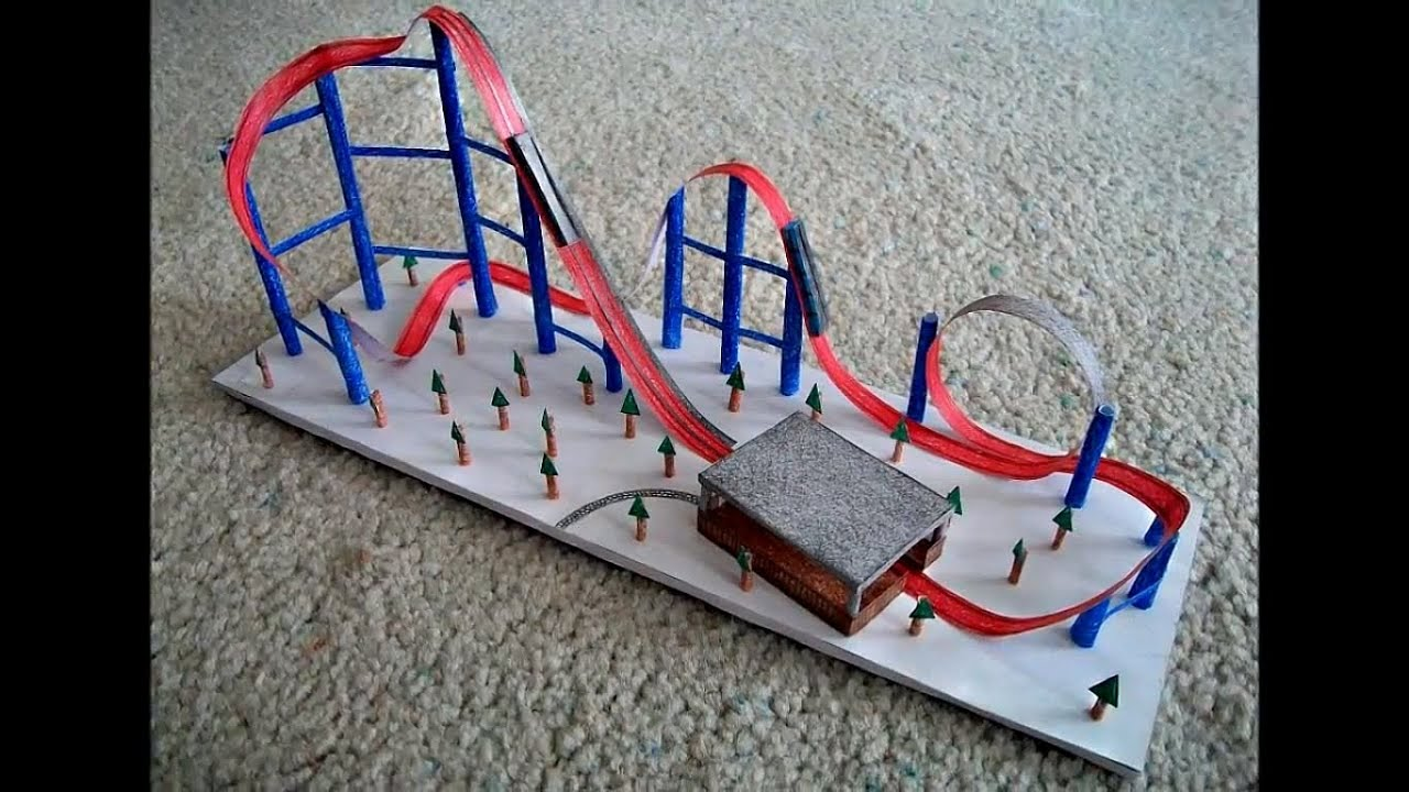 Papercraft Paper Model of a Roller Coaster