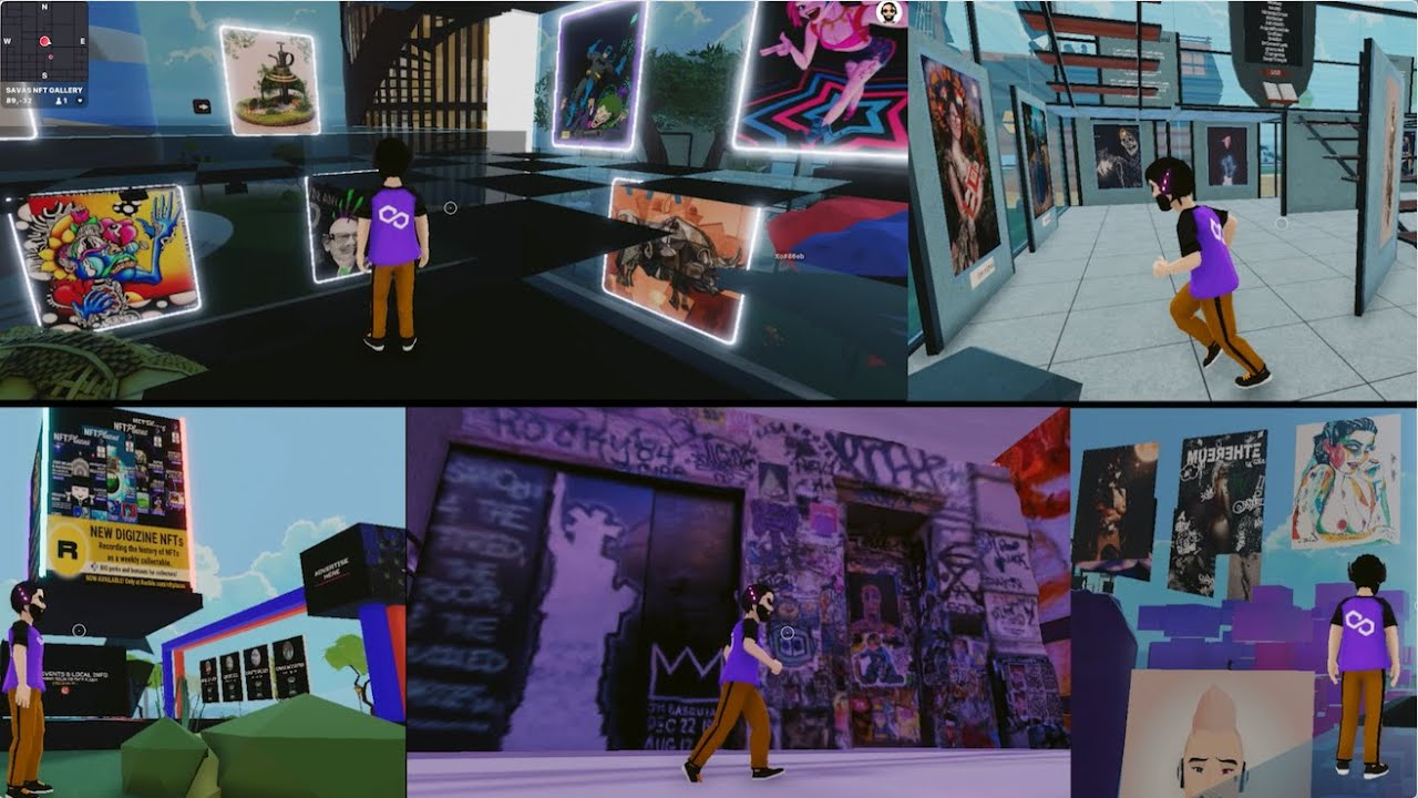 NFT 數碼畫廊看展《日記 2》/ Decentraland NFT Galleries Scope 2