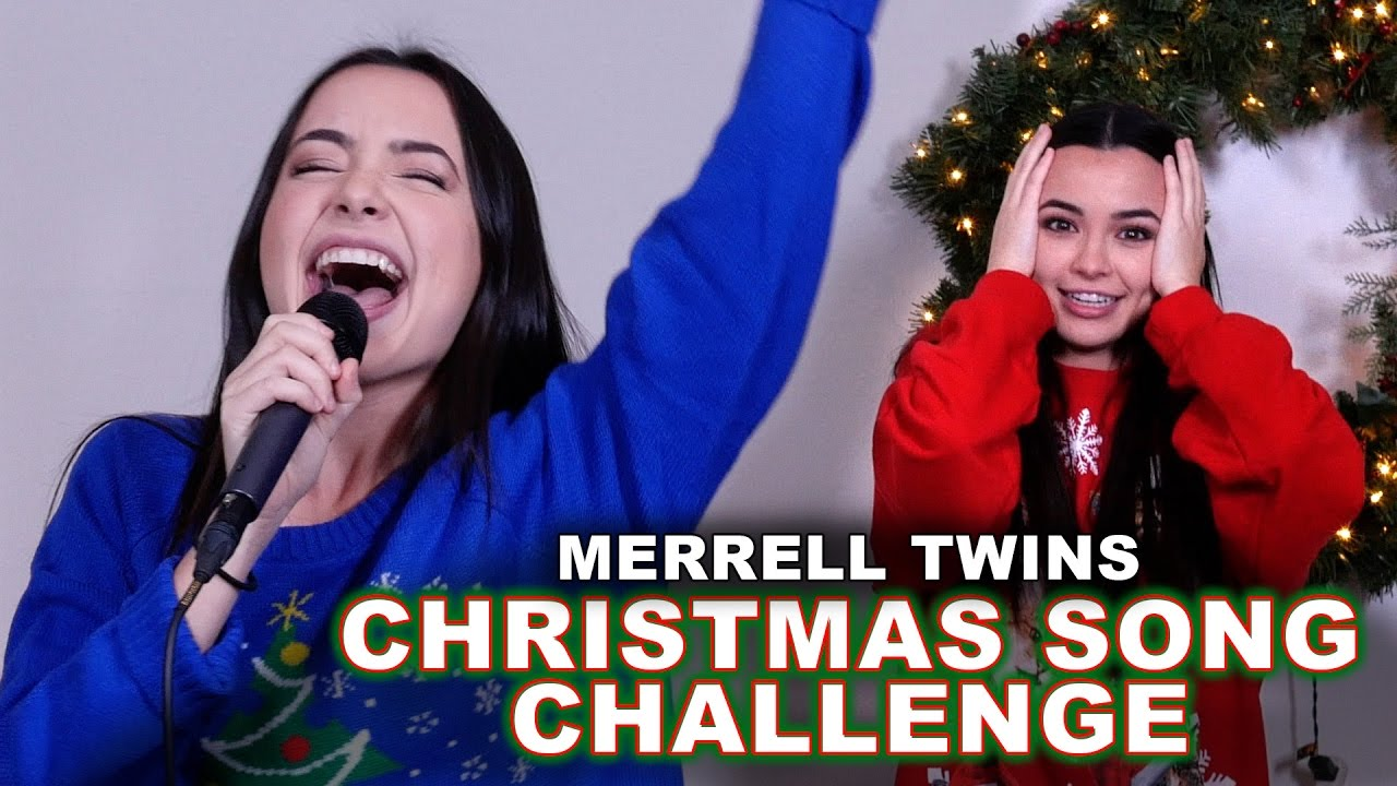 Christmas Song Challenge - Merrell Twins - YouTube