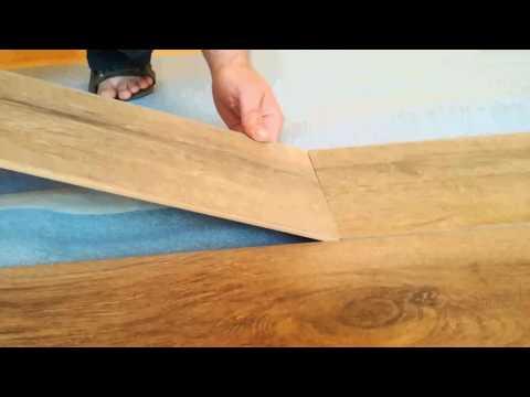 Как уложить ламинат на деревянный пол часть 1