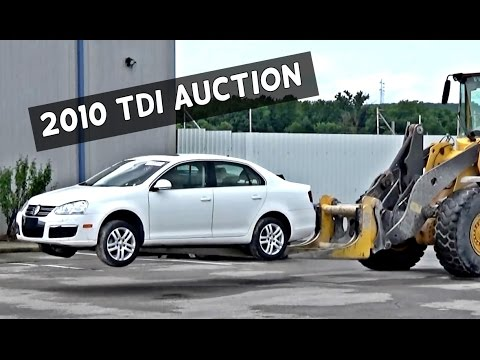 GETTING A WRECKED 2010 VW JETTA TDI at an AUTCTION