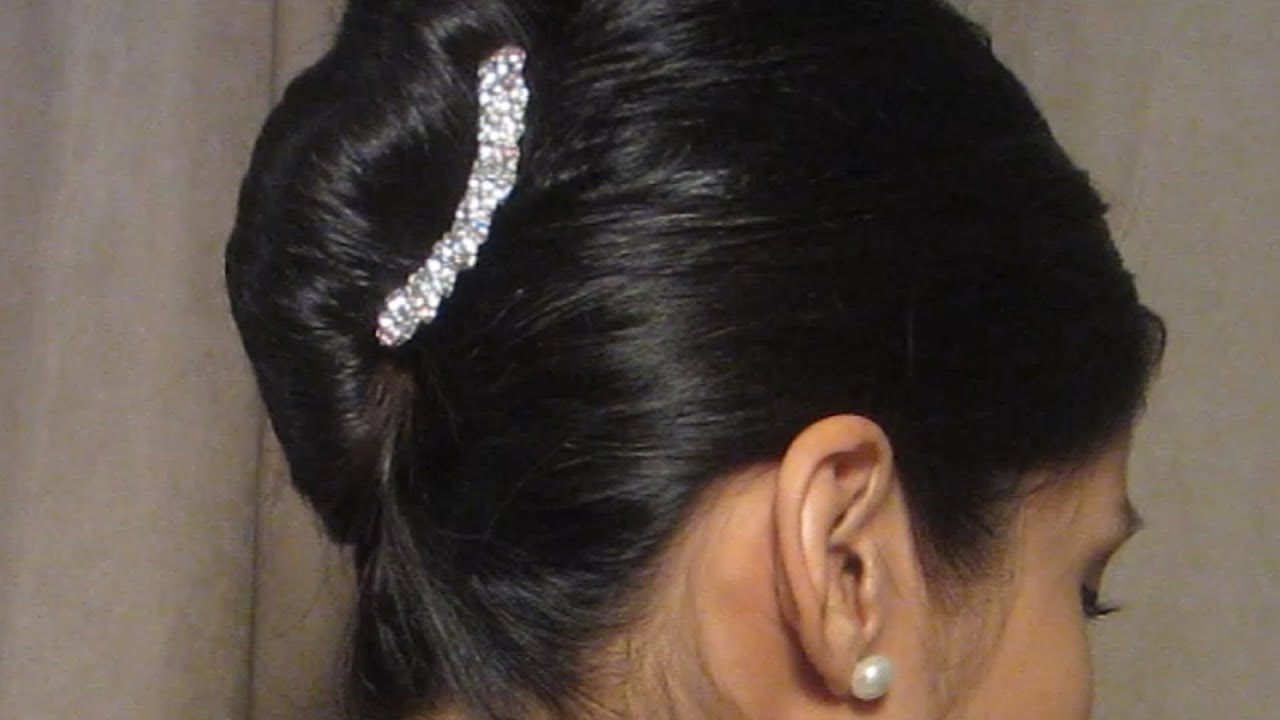 French Roll Hair Style Inspiration Easy French Twist Hairstyle  Youtube