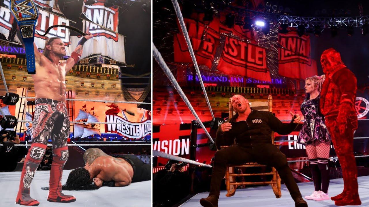 Download WWE WrestleMania 11th April 2021 Night 2 Highlights, Roman reigns Vs Edge   The Fiend Vs Randy Orton