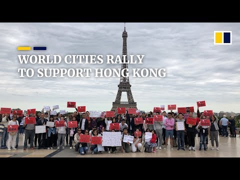 Rallies around the world in solidarity with Hong Kong extradition law protest