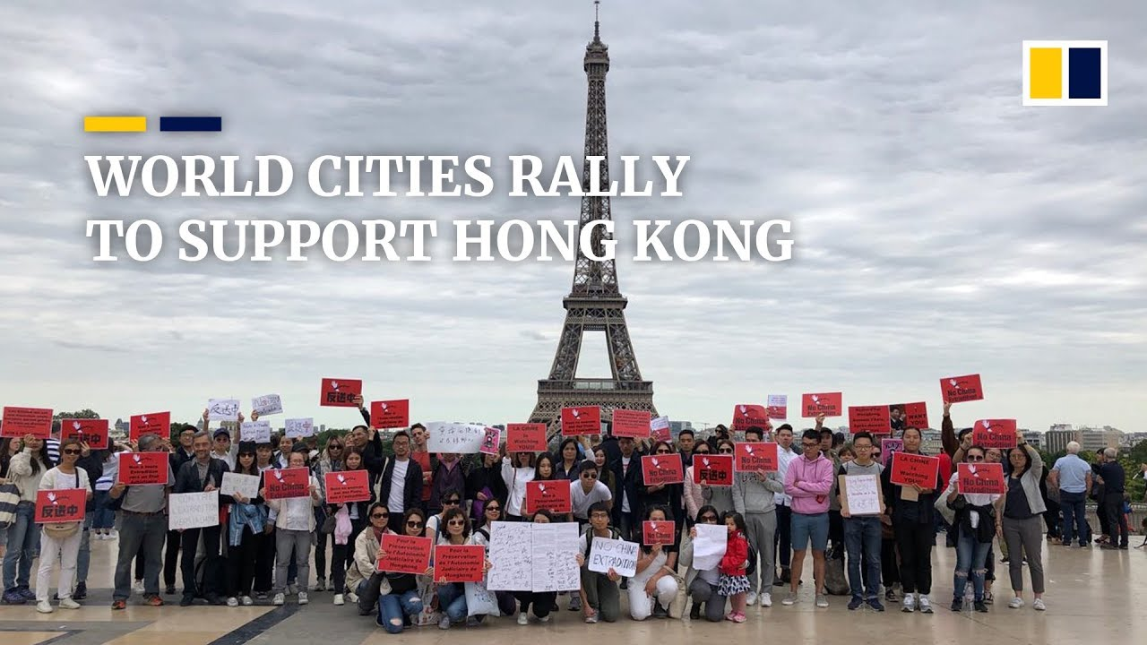 Image result for protest all over the world to support Hong Kong