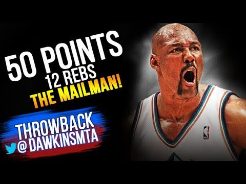 huge selection of c0551 b5353 Karl Malone Full Highlights 2000 NBA Playoffs R1G1 vs Sonics - The Mailman  Delivers SiCK 50 Pts!