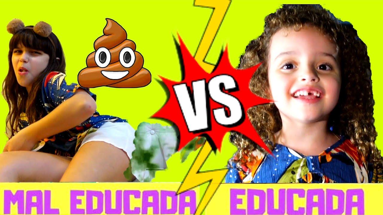 Criança Educada VS Criança Mal Educada - Clubinho da Marina e Elisa