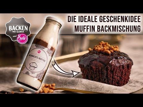NEU: Geschenkidee: Backmischung Weihnachtliche Muffins   Backen mit Globus & Sally #95