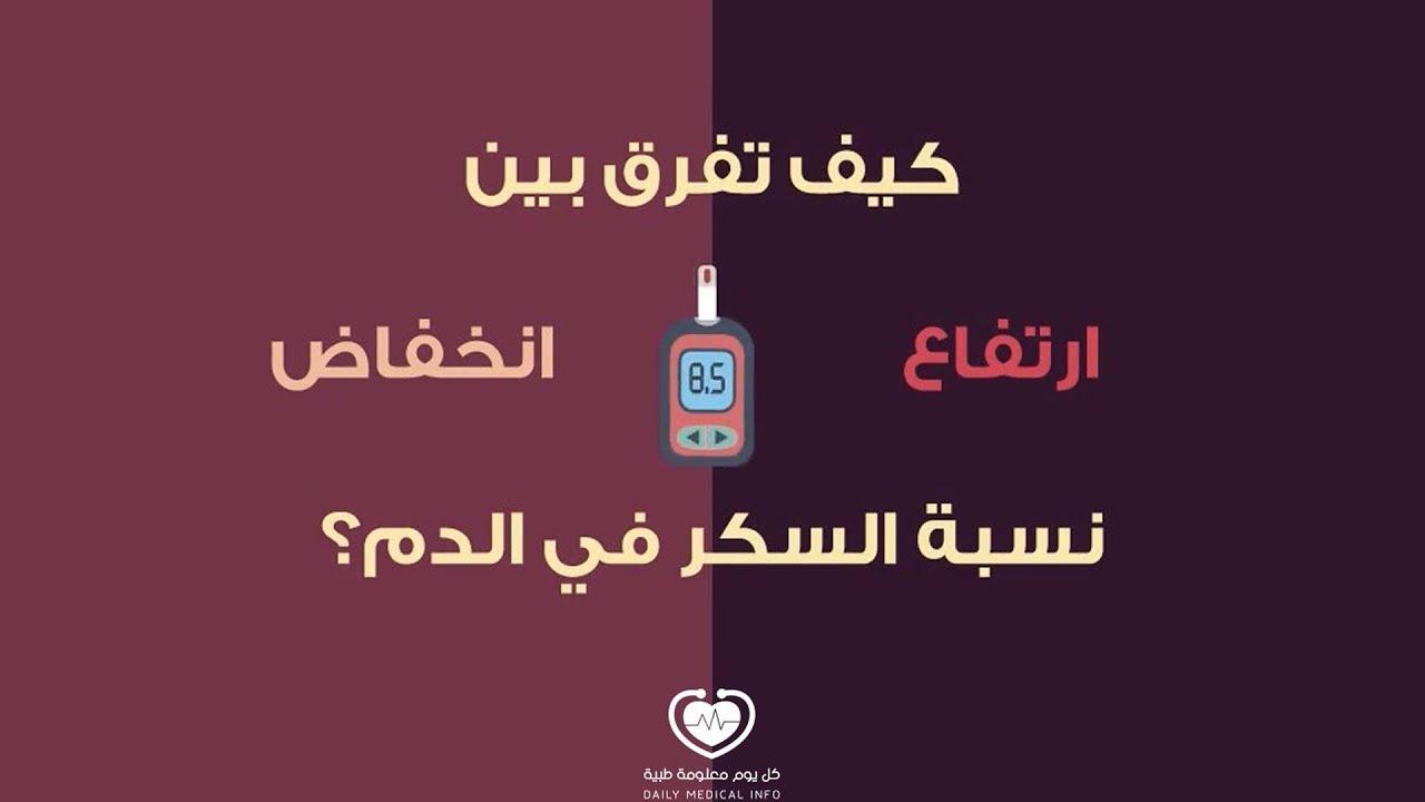661a2a356 انخفاض نسبة السكر في الدم وارتفاعها .. كيف تفرق بينهما؟ - كل يوم معلومة طبية