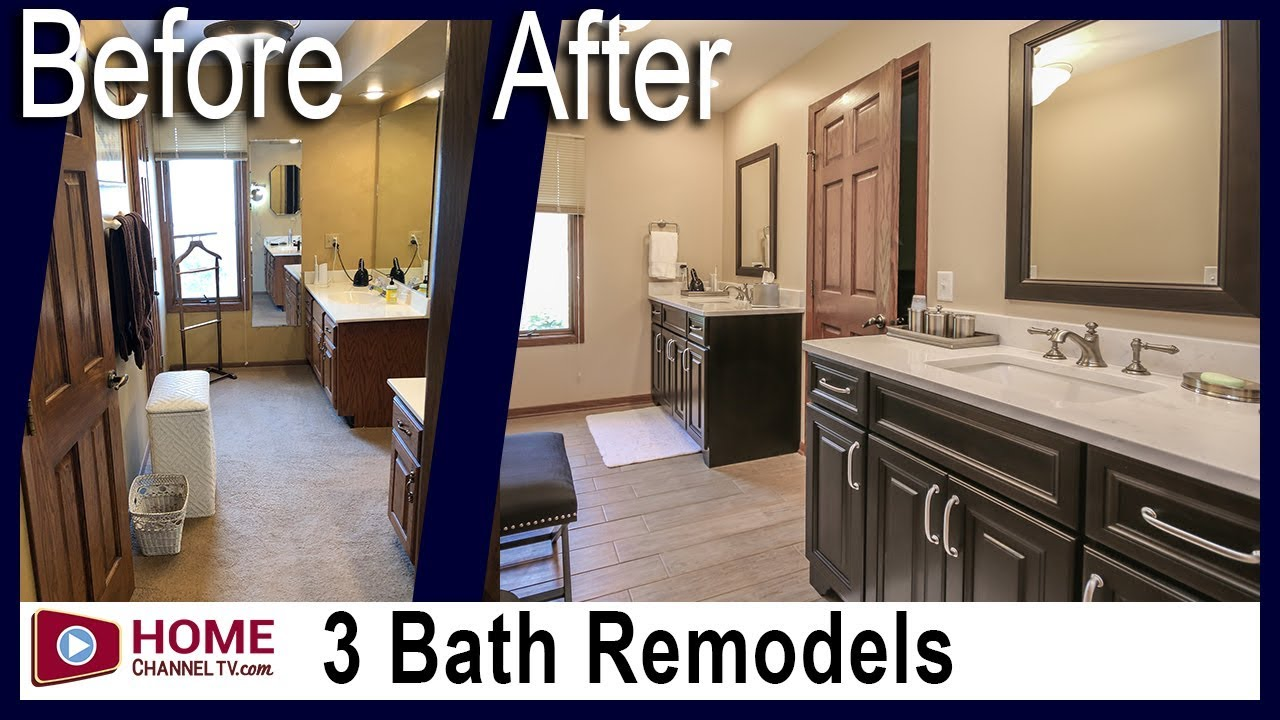 Bathroom Remodeling - 3 Baths Get a Complete Remodel | Bathroom Design Ideas