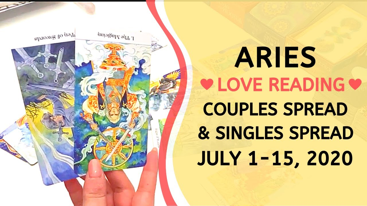 ARIES LOVE ❤️ ~ CONVERSATION MOVES THINGS FORWARD! + SINGLES READING ~ JULY 1-15, 2020 TAROT READING