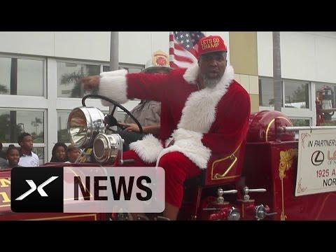 Shannon Briggs als Santa Claus in da House | Boxen | Schwergewicht