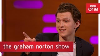 Tom Holland had a Spider-Man dress up costume when he was little - The Graham Norton Show