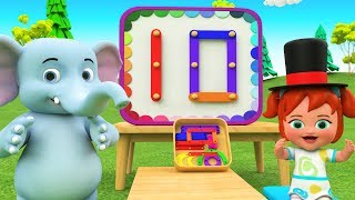 Little Baby Fun Magic Play with Elephant Cartoon Educational - Learn Numbers for Children Kids Toys