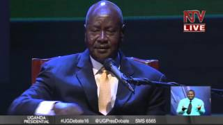 2nd Presidential Debate: Yoweri Museveni opening remarks