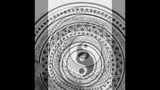 Drawing a mandala. Time-lapse