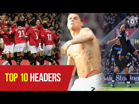 Top 10 Premier League Headers | Cavani, Ronaldo, Chicharito, Cantona & More | Manchester United