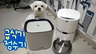 강아지 정수기+자동 급식기!!이것이... 「4차 산업혁…