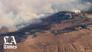 The Easy fire in Simi Valley near Reagan Library triggers evacuations
