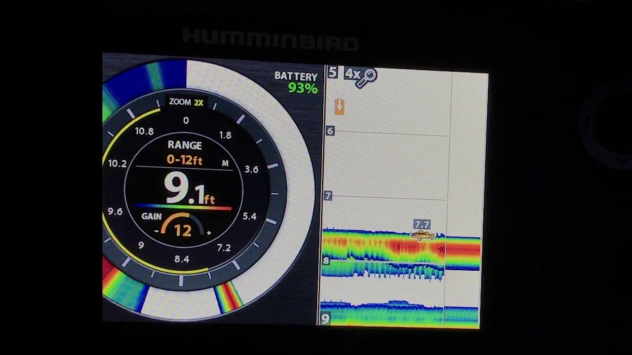 Ice fishing iowa humminbird helix 5 sonar g2 first for Helix 7 ice fishing