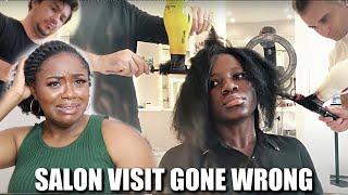 NATURAL HAIR SALON VISIT GONE WRONG - REACTION