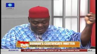 Buhari's Certificate Matter Is An Uncanny Concatenation Of Fate - Lawyer Prt 2