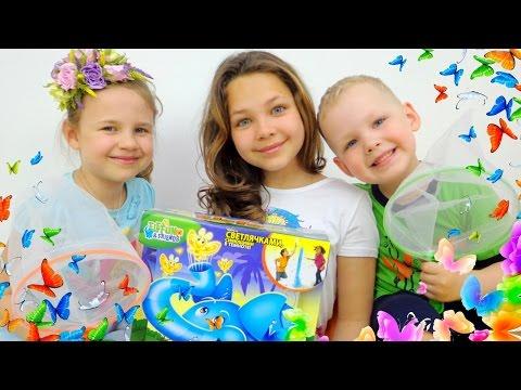 Игры для детей: слон и бабочки!