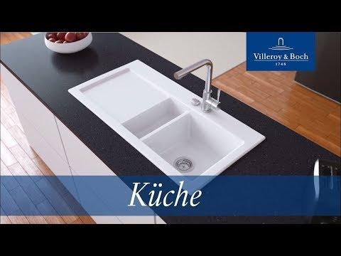 Montage Küchenspülen für aufliegenden Einbau   Villeroy & Boch