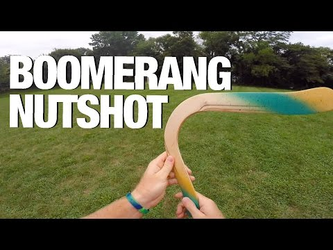 Boomerang Hits Guy in the Nuts!