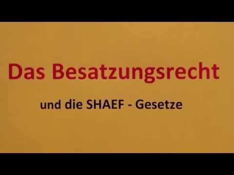 Das Besatzungsrecht und die SHAEF-Gesetze