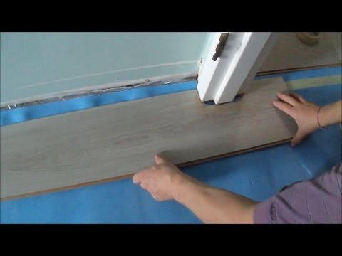 Installing Laminate Cork Flooring Without Transitions How To P A Door Jamb Mryoucandoityourself